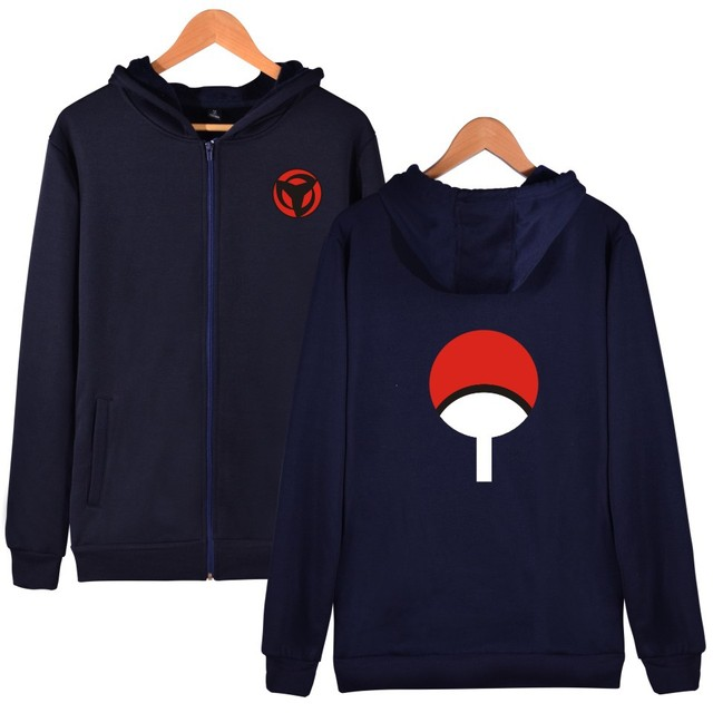 UCHIHA SYMBOL ZIP UP HOODIES (5 COLORS)