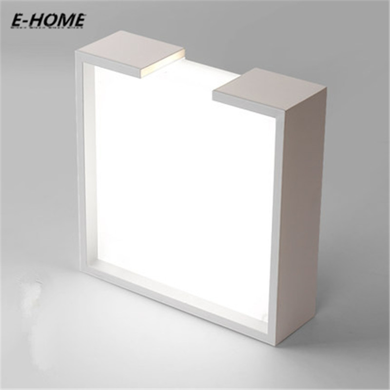 Nordic geometric ceiling bedroom lamp simple modern led creative personality art square study living room Remote Control SensorNordic geometric ceiling bedroom lamp simple modern led creative personality art square study living room Remote Control Sensor