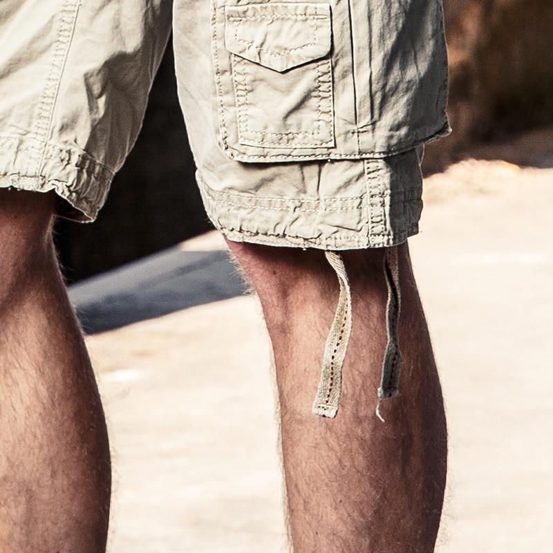 HALACOOD vasaros medvilnės vyrų kariniai šortai vasaros vyrų - Vyriški drabužiai - Nuotrauka 4