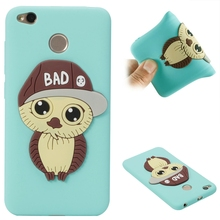 Xiaomi Redmi 4X Case Cartoon Owl Silicone Soft Phone on for Cover Xiomi 5.0 casa Women