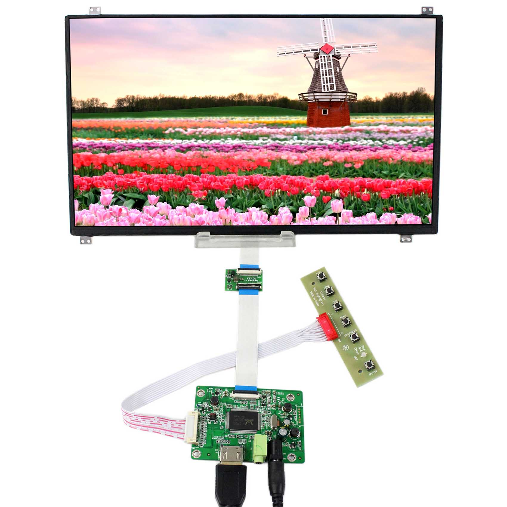 HDMI LCD Controller Board With 13.3inch 1920x1080 N133HSE-EB2 eDP IPS LCD Screen vga hdmi lcd edp controller board led diy kit for lp116wh6 spa1 lp116wh6 spa2 11 6 inch edp 30 pins 1lane 1366x768 wled ips tft