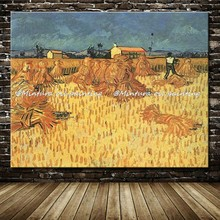 Harvest In Provence Of Vincent Van Gogh Hand Painted Reproduction Famous Oil Paintings On Canvas Wall Art Picture For Home Decor