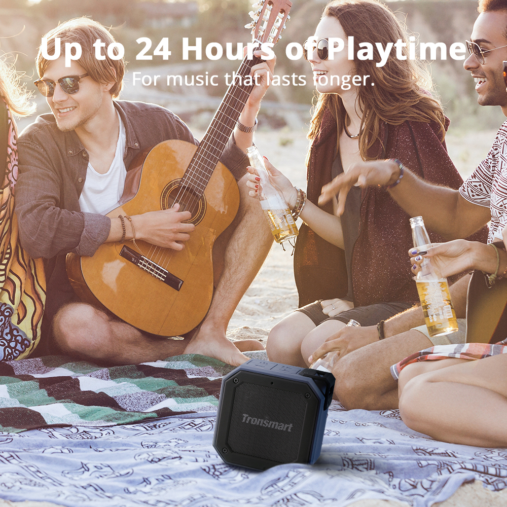 tronsmart groove (force mini)  ipx7 waterproof bluetooth speaker  with 24h playtime