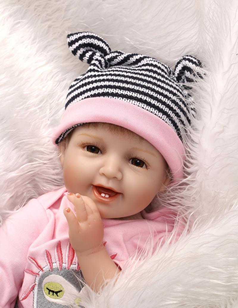 Мягкое тело силиконовые куклы для новорожденных и малышей игрушки для девочек детей подарок на день рождения подарок для новорожденных дев...