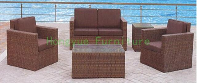 Ratán sofá de jardín conjunto, exterior conjunto de sofás muebles