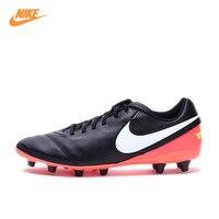NIKE Yeni Varış Orijinal TIEMPO GENIO II DERI AG-PRO erkek Futbol Ayakkabı Futbol Ayakkabı Sneakers 844399-018