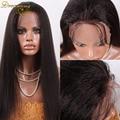 7A Italian Yaki Glueless Indian Virgin Remy Glueless Full Lace Human Hair Wigs Kinky Straight For African Americans Baby Hair