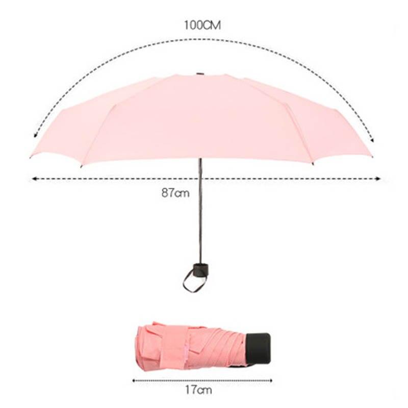 Memokey Mini Small Umbrella Folding Umbrella Pocket Women Kids Umbrella Anti UV Women 39 s Umbrella Sunny Rainy F in Umbrellas from Home amp Garden