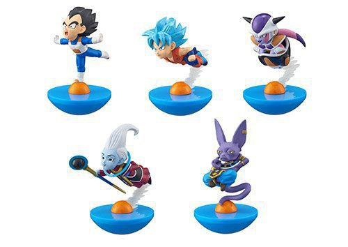 Tumbler Dragon Ball Z roly-poly Figures 5pcs/set Son Goku Piccolo Vegeta Freeza Beerus Whis Shenron PVC Action Figure Toy KT3155 6pcs set dragon ball z son goku vegeta broly kakarotto battle ver pvc action figures dragonball figure toys collection model toy