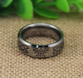 Free Shipping YGK JEWELRY Hot Sale 8MM High Polish Silver Beveled Zelda Wolf Men's Lord Tungsten Wedding Rings