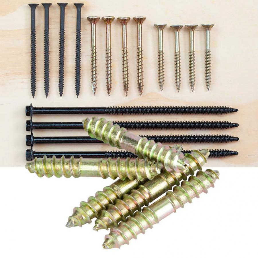 10Pcs/set Wood Screws 6*40mm Dowel Woodworking Furniture Connector Double Ended Screw Set tornillos