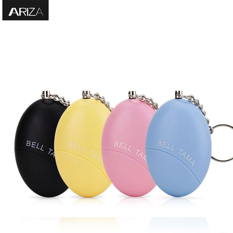 Ariza 4pcs Portable Emergency Personal Alarm Keychain Self Defense Supplies Personal Panic Alarm Anti-lost Anti-Rape For Women