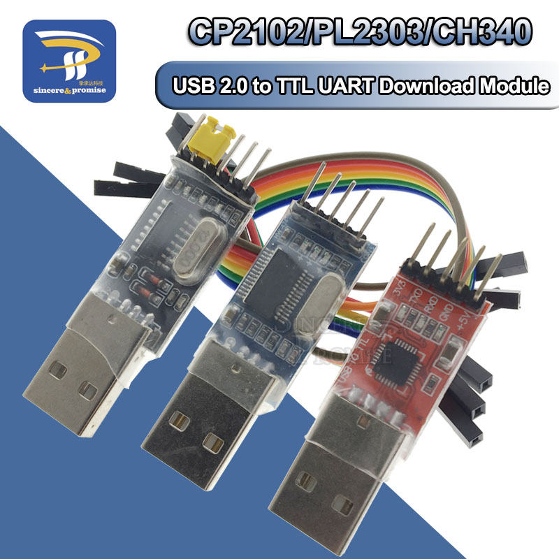 3pcs/lot =1PCS PL2303HX Download +1PCS CP2102+1PCS CH340G USB TO TTL For Arduino USB To UART TTL Serial Brush Plate Module