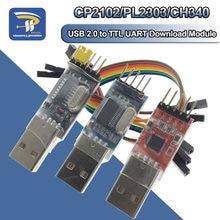 3 pçs/lote = 1 pçs pl2303hx baixar + 1 peça cp2102 + 1 peça ch340g usb para ttl para arduino módulo da placa da escova do usb para uart ttl
