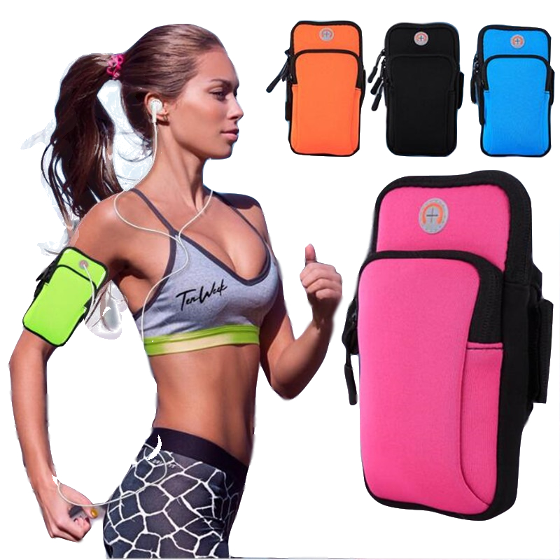 Phone Armband Sports Running Bag Case Cover Running Armbands Universal Waterproof Mobile Phone Bags Holder Outdoor in Armbands from Cellphones Telecommunications