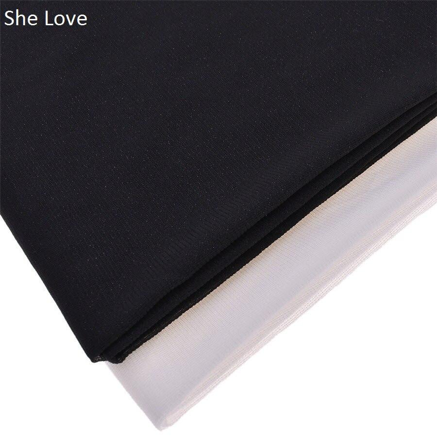 Ela Amor 100x112 cm Preto Cor Branco Estiramento Malha Fusíveis Ferro Sobre Interface Garemets Tecido Não-tecido materiais De Costura Diy