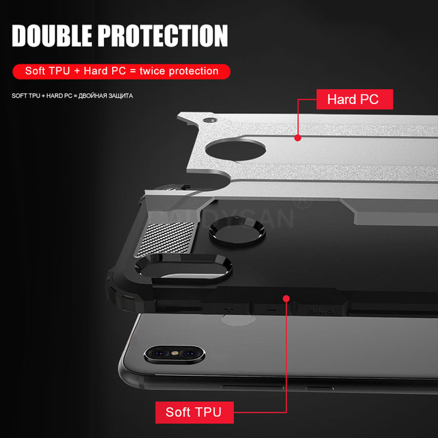 Armor Shockproof Case On The For Xiaomi Redmi 7 Note 6 7 Pro 5 Plus Soft Case Cover For Xiaomi Pocophone F1 Back Case