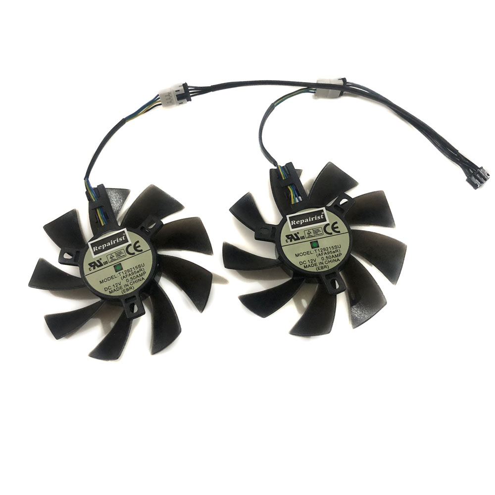 Купить с кэшбэком 2pcs/lot RX 580 AORUS 8G VGA GPU 4pin 85mm cooler Graphics card fan for REDEON GIGABYTE rx580 gaming 4G/8G MI video card cooling