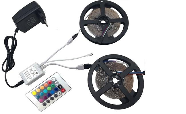 HTB10983Xbr1gK0jSZFDq6z9yVXan 5m 10m Waterproof LED RGBW RGBWW RGB strip light SMD 5050 Light Remote control Power Adapter RGB Fita Ribbon Lamp led strip set