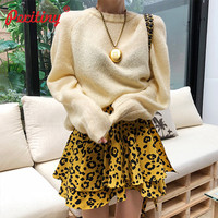 Peritiny Korean Style Sweaters and Pullovers Long Sleeve Jumper Autumn Winter Sweater Women Fashion Tops Knitted Clothing Female