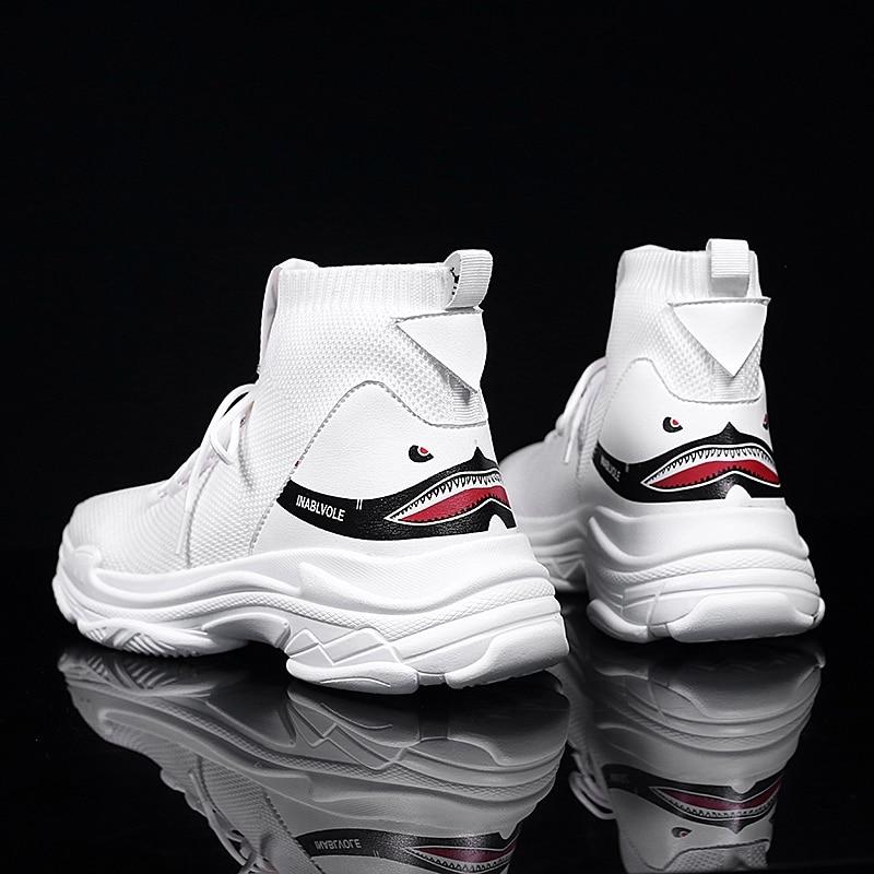 Hombre Flyknit Caminar Calcetín Para Hombres 9111 Transpirable 2018 Zapatillas Casuales Alta De Superior Casual Moda Black 9111 Zapatos La white Calzado x4xwzAOqa