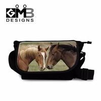 Stylish Horse Messenger Book Bags Coolest Designer Canvas Side Bag For Boys Satchel Bags For Men