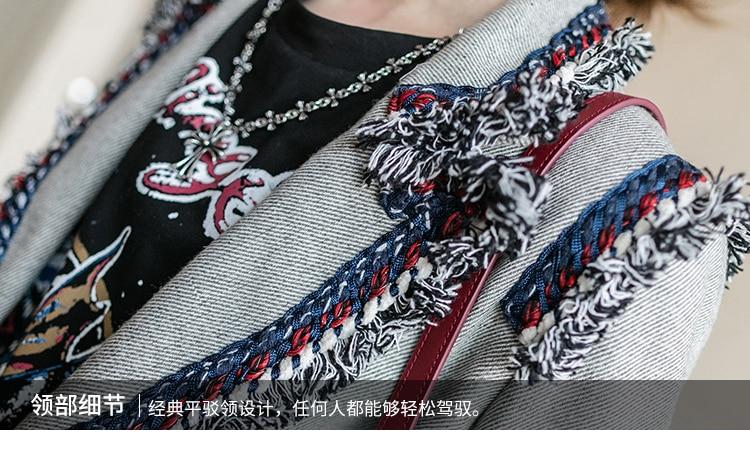 Automne Femme Gland Court Mode Tops Printemps Bureau W483 Pour 2018 Femmes Lkghulo Gray Manteau Nouveau Gris Blazer Mince Exzc4Pq