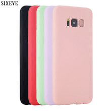 Silikon Case untuk Samsung Galaxy S8 S9 S10 Plus S6 S7 Edge Note 8 9/3/4 5 J3 J5 j7 A3 A5 A7 2015 2016 2017 Mewah Penutup Telepon(China)
