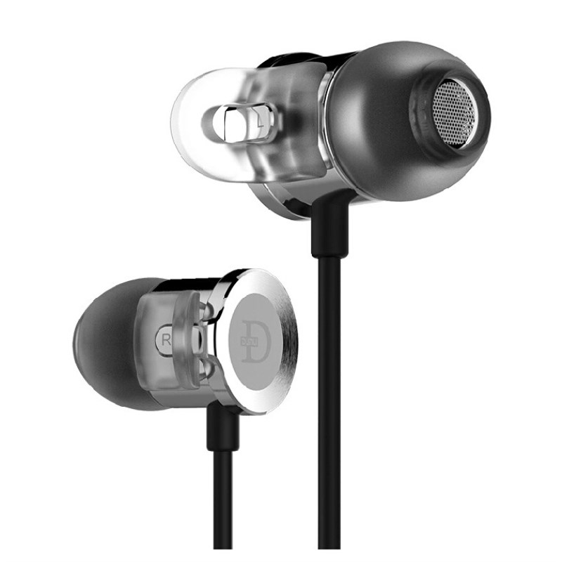 DUNU DN-2000J Dual Balanced Armature + Dynamic Hybrid Earphone HiFi Stereo In-Ear Earbuds Monitor Tune Audio Metal Bass Headset