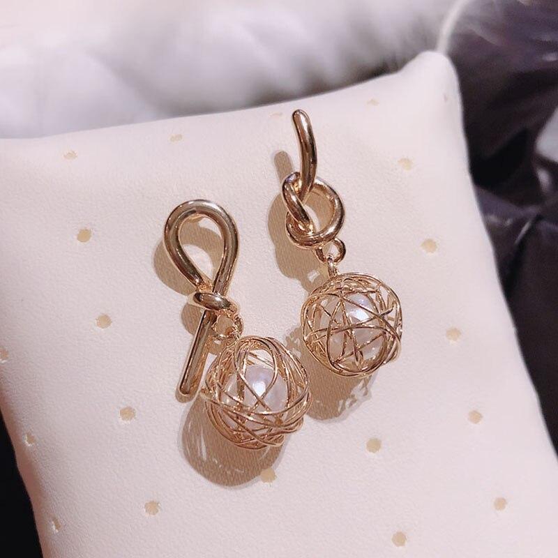 fdd40a2e Moda pendientes de moda joyería para mujeres de acero inoxidable redondo de  diamantes de imitación ...
