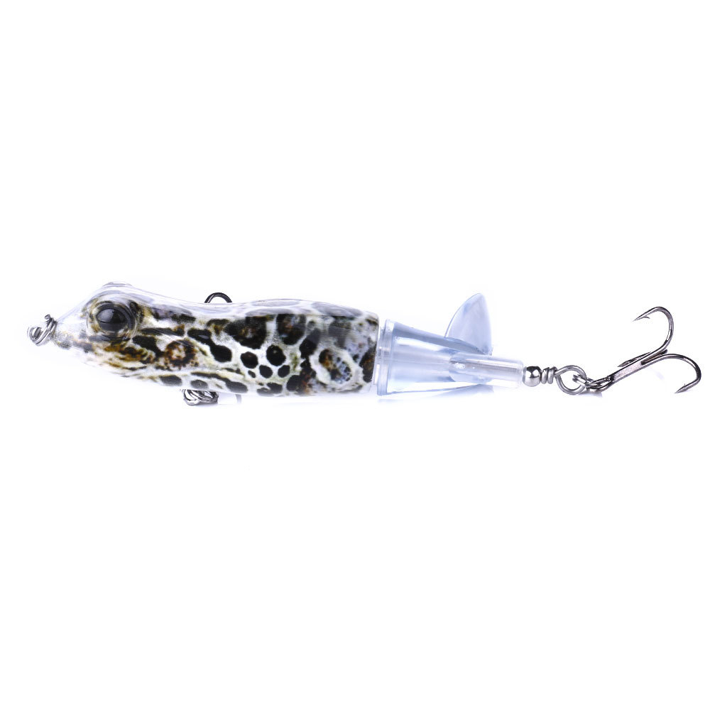1pcs 9.5cm 11g Topwater Frog Whopper Plopper Fishing Lures Hard Artificial Bait with Rotating Soft Tail Pike Fishing Tackle Lure