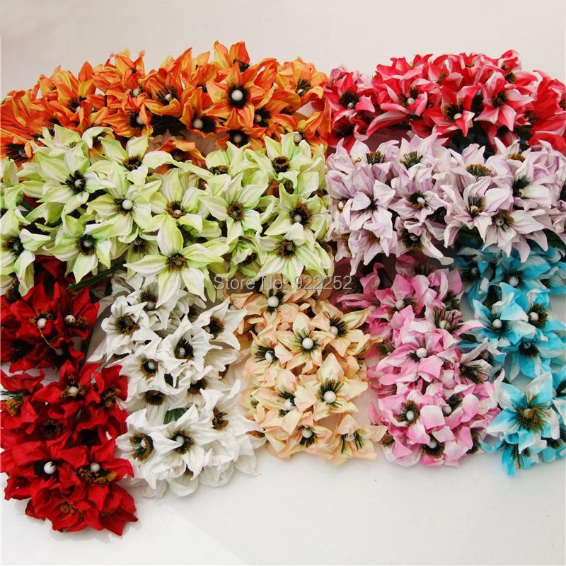 artificial Mulberry paper Morning glory,Lily bouquet,diy craft scrapbooking accessories,decoration for hair garland,Candy box