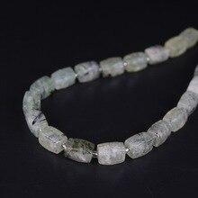 21pcs/strand,Natural Prehnites Quartz Faceted Cube Nugget Pendant Beads,Cut Rough Crystal Stone Necklace Bracelet Jewel Making
