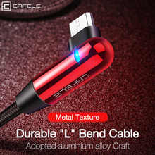 CAFELE Led light micro USB charging Cable for samsung huawei xiaomi LG HTC fast Charging Data Sync Cables support