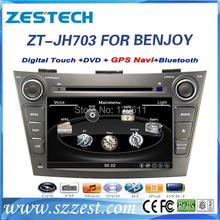 ZESTECH High performance dual-core HD digital touch screen car dvd for JAC J7/Benjoy car dvd with radio,RDS,3G