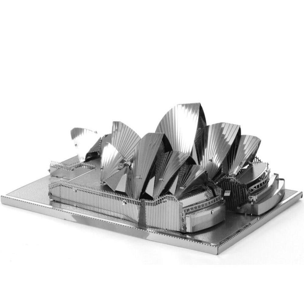 metal earth sydney opera house 3d model kit steel laser cut nano