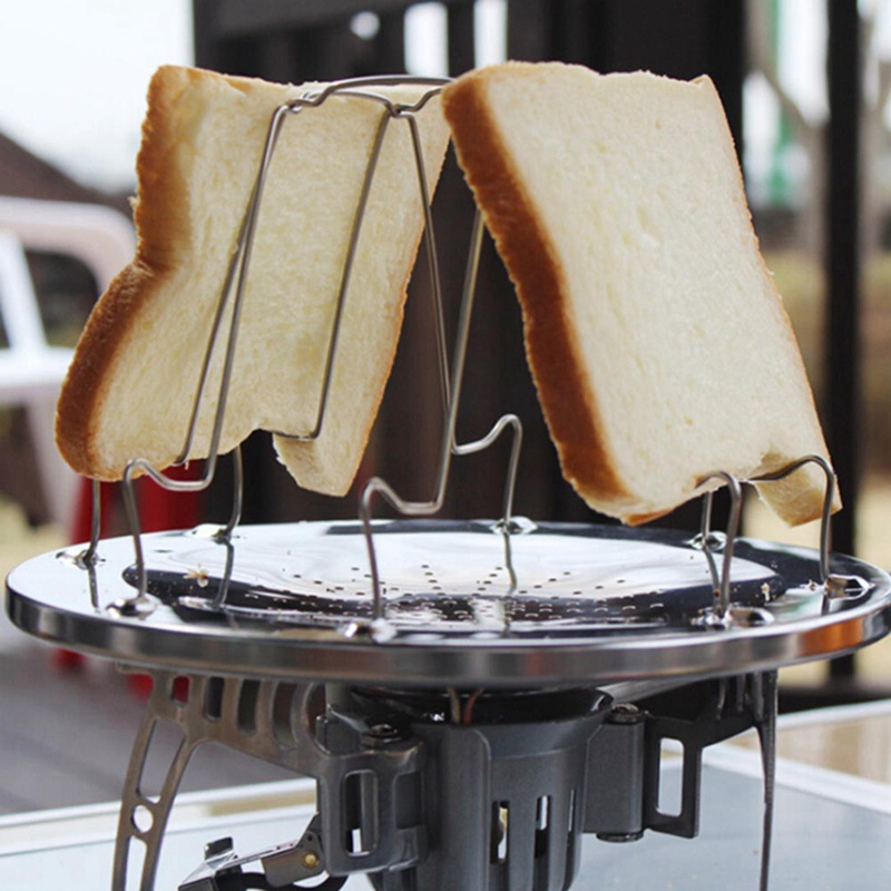 Stainless Steel 4 Slice Outdoor Bread Toaster Foldable