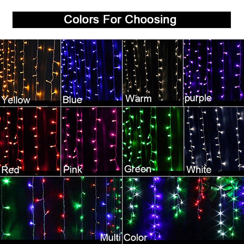 JULELYS 8M x 5m 1280 ampoules rideau LED décoratives guirlande lumières de noël en plein air pour mariage vacances fête maison jardin - 3