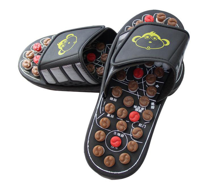 rotating Massage slippers acupuncture point  massage shoes Foot massage   home slippers Anti-skid wear  / tb 170923  natural pebble foot massage slippers point massage shoes men and women couple home skid shoes tb20903