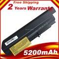 Batteria nova substituição da bateria 5200 mah 6 células bateria do portátil para ibm lenovo thinkpad t61 r61 r61i t61u r400 t400