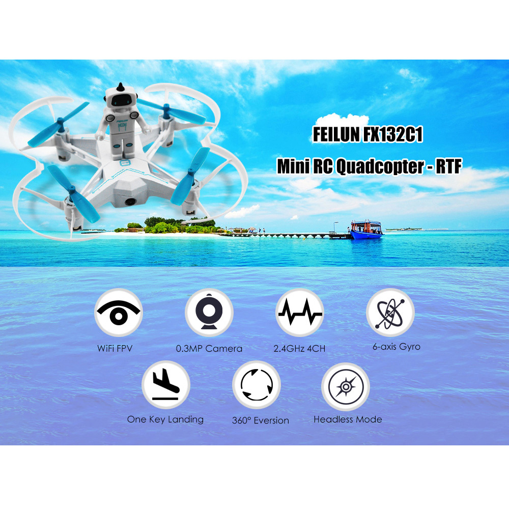 Brand New RC Drone Dron WiFi FPV 0.3MP Camera 2.4GHz 4CH 6-axis Gyro Drones Headless Mode 360 Degree Rotation Fly Helicopter RTF jjrc h12c 6 axis headless mode 2 4g 4ch rc quadcopter 360 degree rollover ufo helicopter professional drone dron 5 0mp hd camera