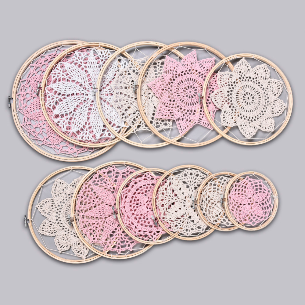 DIY Large Doily Lace Dream Catcher Set High end 11 Lace Rings Free ...