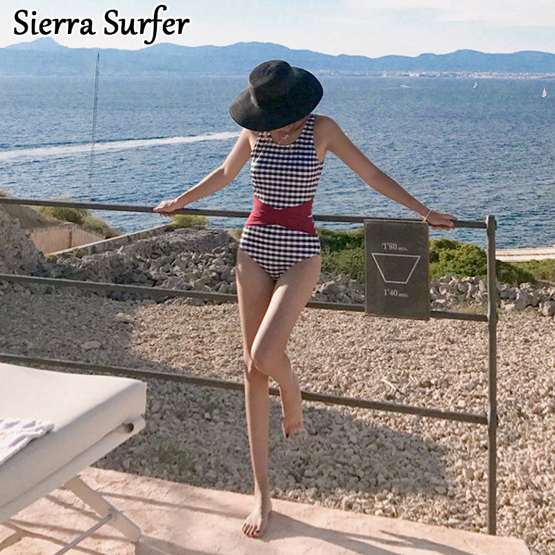 Women's Sport Suits One Piece Swimming Suit Female Swimwear Women Plus Size Woman One-Piece Swimsuit 2018 New 8951 Solid Cotton bathers one piece suit zipper swimwear female one piece swimsuit solid plus size sport bathing suit clothes swimming suit women