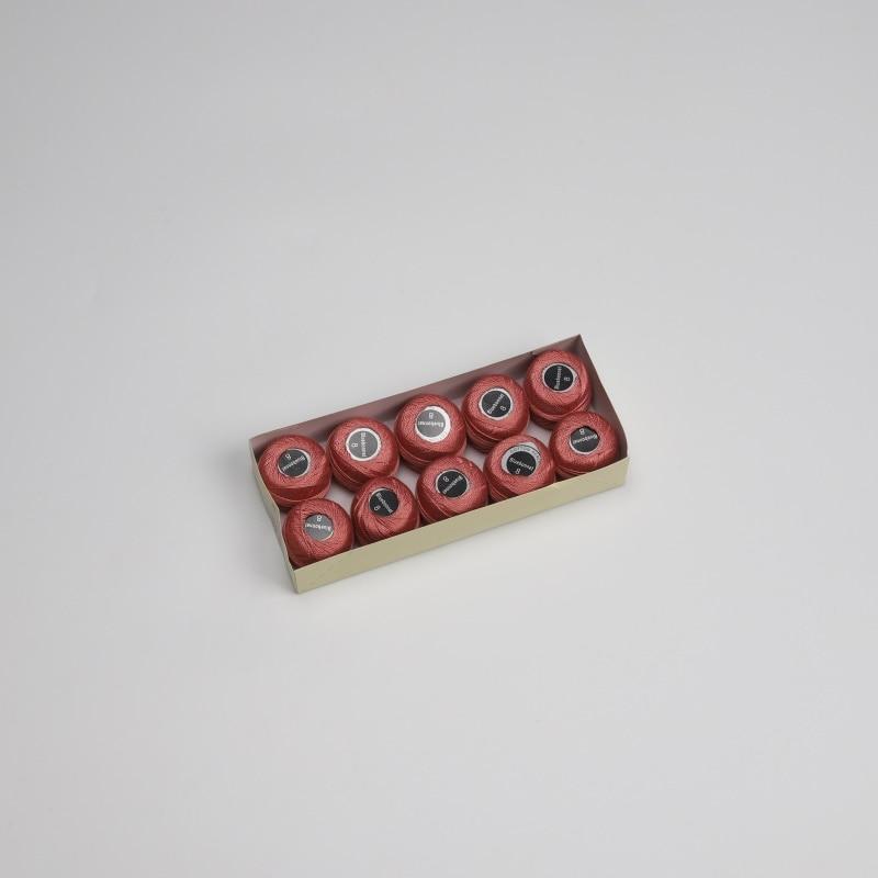 Размер 8 жемчужная хлопковая нить для вышивки крестиком 43 ярдов(5 грамм) на шарик Двойной Мерсеризованный длинный штапельный хлопок 10 шариков в цвет - Цвет: 972