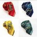 Колледж полиэстер Полосатый Гарри Поттер Галстук для человека школьные галстуки Галстуки Взрослых Шеи Галстук Значок Дизайн Аксессуары