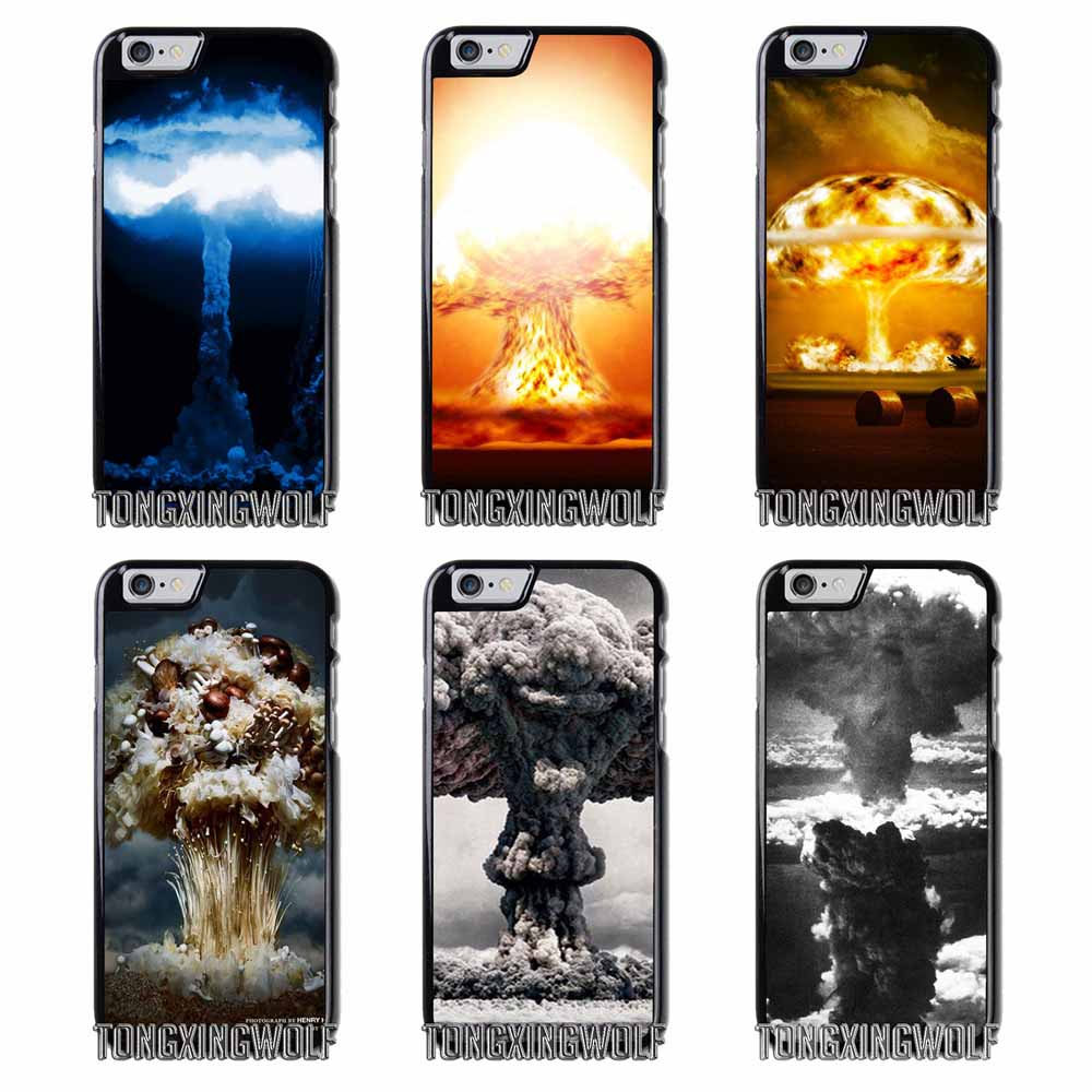Atomic Bomb Mushroom Cloud  Cover Case For Samsung S4 S5 S6 S7 S8 Eege Plus Note 2 3 4 5 8 Huawei honor P8 P9 P10 Lite