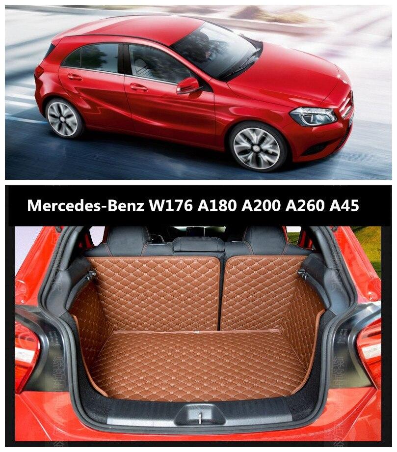 Para Mercedes Benz A Class W176 A45 A180 A200 A260 2013-2018 Completo Forro de Carga Mat Traseiro Tronco Tray protetor de piso esteiras almofada do pé