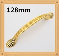 4pcs 128mm Zinc Alloy Modern Handle Cabinet Handle Drawer Handle Golden Color European Style