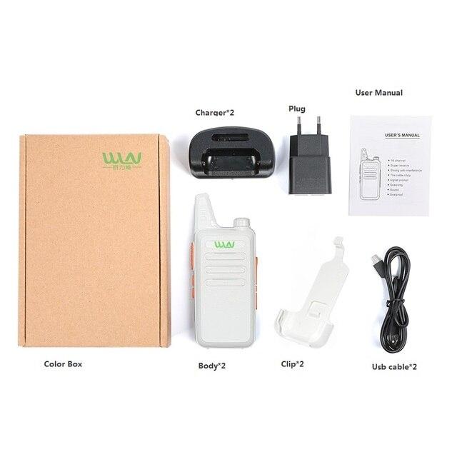 2PCS Portable Radio WLN KD-C1 Mini Wiress Walkie Talkie UHF Handheld Two Way CB Radio Communicator рация