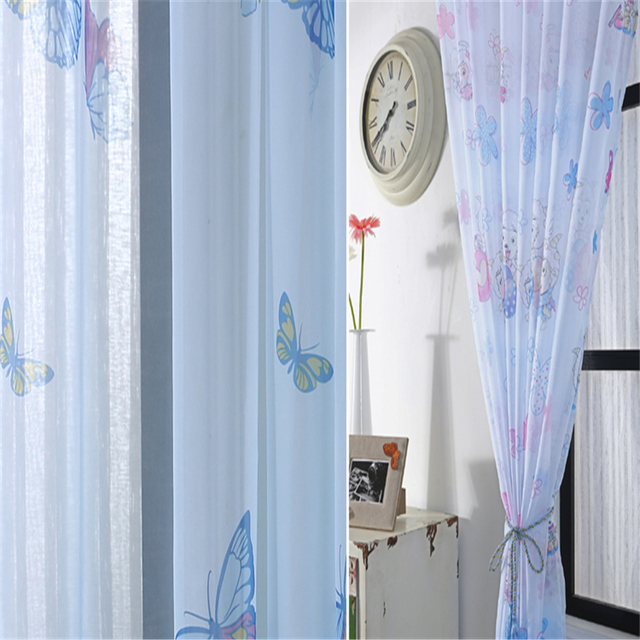 Curtains Ideas curtains for cheap : Aliexpress.com : Buy Cartoon animals organza curtains Cheap kids ...